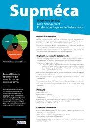 Télécharger la plaquette Mastère Lean Management - Supméca