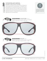Cocoons 3D Sizing Guide - Cocoons Eyewear