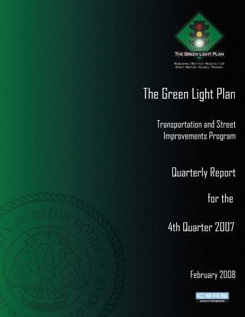 Green Light Plan 2007 4th Quarter Report - The Green Light Plan
