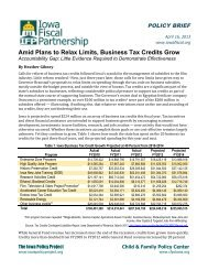 Amid Plans to Relax Limits, Business Tax Credits Grow - Iowa Fiscal ...