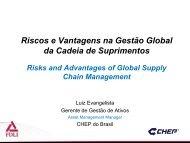 Riscos e Vantagens na Gestão Global da Cadeia de Suprimentos