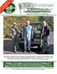 Standard - November 2007 - Capital Triumph Register