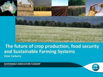 Future of crop production, food security & sustainable farming systems