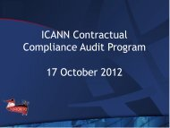 ICANN Contractual Compliance Audit Program 17 ... - Toronto - icann