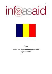 Chad Media and Telecoms Landscape Guide - Infoasaid