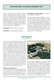 Rapport for 2003 kan læses her - Økologisk Rådgivning