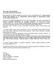 Par Latvijas mežizstrādātāju (forvarderu operatoru ... - BT 1