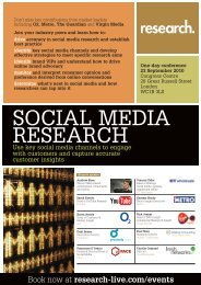 Social Media Research Programme - Research-live.com
