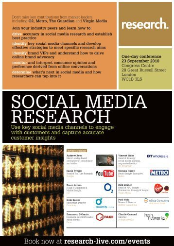 Social Media Research Programme - Research-live.com