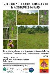 schutz und pflege von orchideen-habitaten im nationalpark donau ...