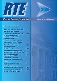 Revista Tinerilor Economiºti - Facultatea de Economie şi ...