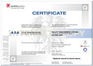 ASA Abfall Service AG QUALITY MANAGEMENT SYSTEM ISO 9001 ...