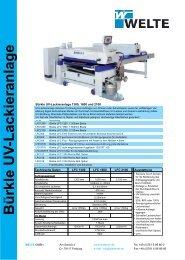 Bürkle UV -Lackieranlage - Welte GmbH