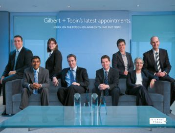 G+T Appointments - Gilbert and Tobin