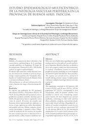 estudio epidemiológico multicéntrico, de la patología vascular ...