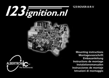123\ROVER-8-R-V Mounting instructions Montagevoorschrift ...