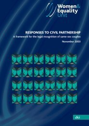 Responses to Civil Partnership:A framework for the legal recognition ...
