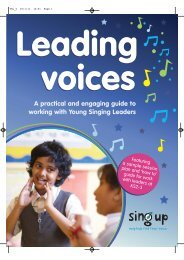 Leading voices booklet - Sing Up
