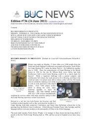 Edition #736 (24 June 2011) - BUC News
