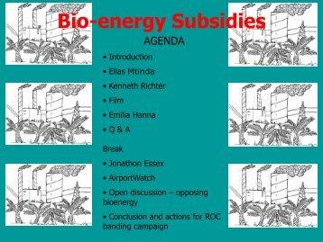 Introduction to Bioenergy Subsidies - Biofuelwatch