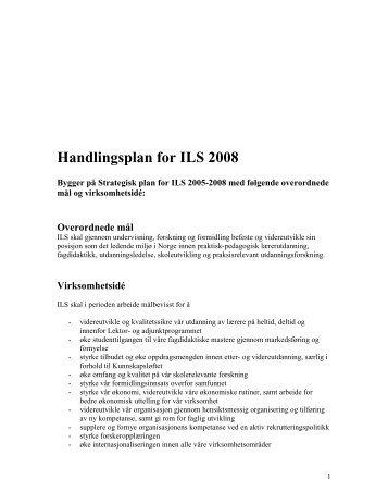 Årsplan 2008 - Det utdanningsvitenskapelige fakultet