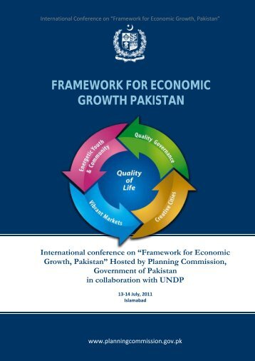 Framework for Economic Growth, Pakistan - Planning Commission