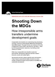 Shooting Down the MDGs: How irresponsible arms ... - Control Arms