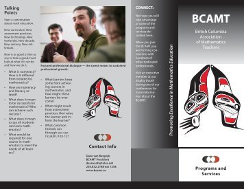 BCAMT Programs and Services