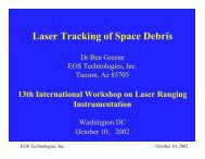 Laser Tracking of Space Debris - Nasa