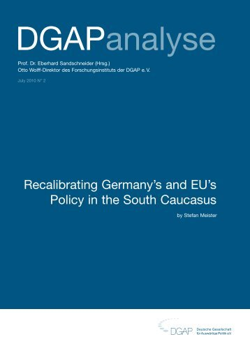Recalibrating Germany's and EU's Policy in the South ... - SSOAR