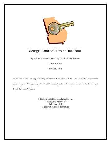 Georgia Landlord Tenant Handbook: - Forsyth County Government
