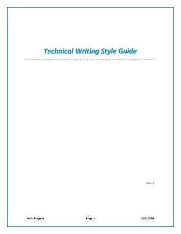 technical writing style Back to technical writing level 2 what is design [the design stage is when decisions of how a project will look are taken in documentation, the design phase is.