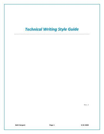 Technical writing services style guide