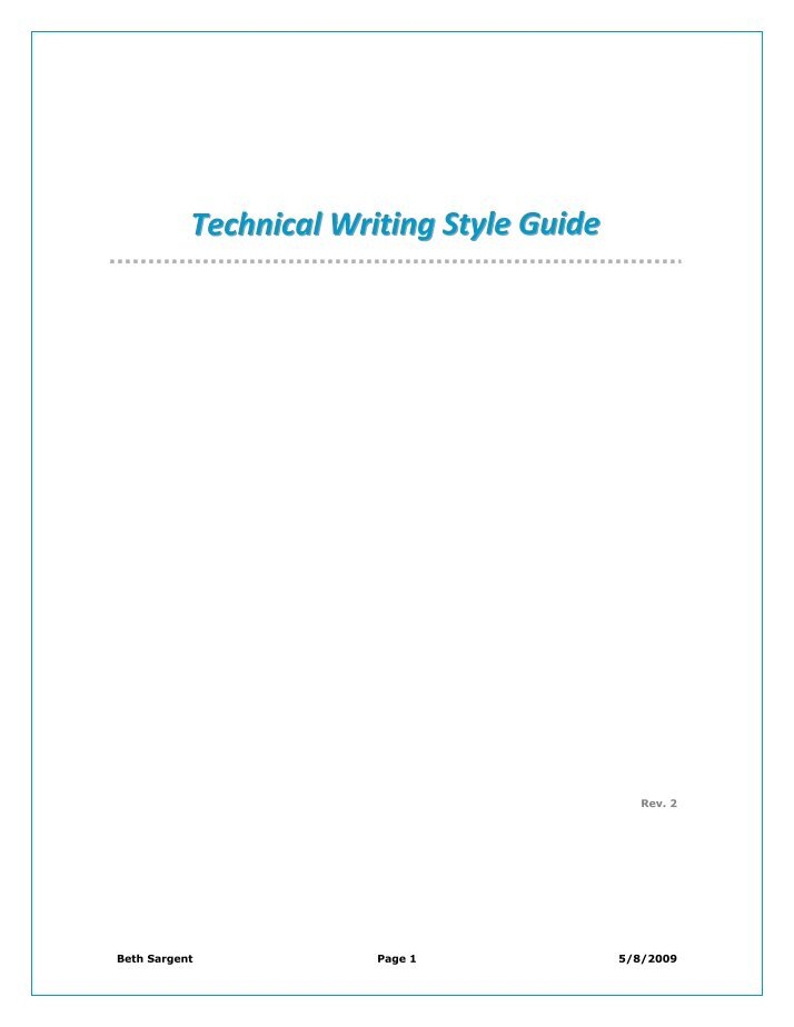 report writing style guide The united nations editorial manual online is intended to serve as an authoritative statement of the style to be followed in drafting, editing and reproducing united nations documents, publications and other written material.