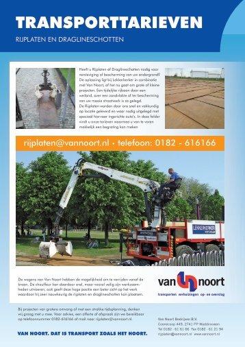de tarieven downloaden - Van Noort