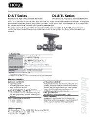 D & T Series DL & TL Series