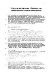 Sociale angststoornis dd 18-6-2010 - GGZ-richtlijnen