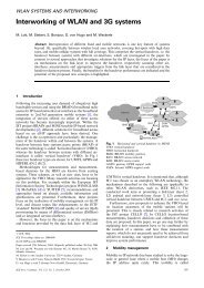 Interworking of WLAN and 3G systems - Communications, IEE ...