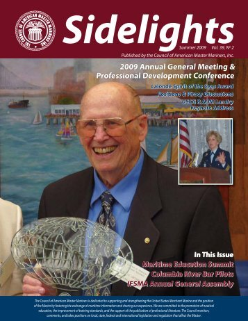 Sidelights Summer 2009 Vol. 39 #2 - Council of American Master ...