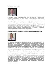 E-Bulletin 20 November 2009 - Bios - New Zealand Health IT Cluster