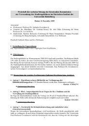 Protokoll der Sitzung vom 08.12.2009 - Slavisches Institut