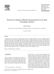 Transverse mixing coefficient measurements in an open rectangular ...