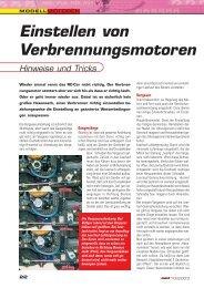 Einstellen von Verbrennungsmotoren