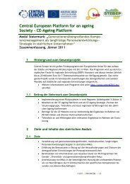 Central European Platform for an ageing Society – CE ... - STEBEP