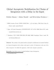Global Asymptotic Stabilization for Chains of ... - INRA Montpellier