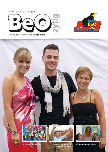 BeO-Zytig Nr. 3/2013 - Radio BeO