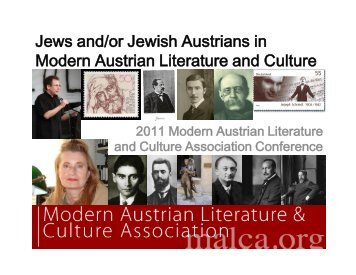 Jews and/or Jewish Austrians in Modern Austrian Literature and ...