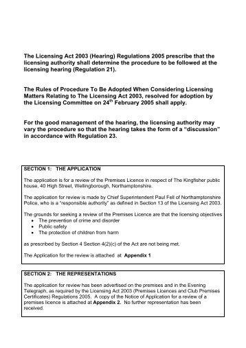 Download Agenda Item 2 - Review of Premises Licence