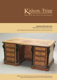 Antiques & Decorative Arts Wednesday 17th August at - Kidson-Trigg