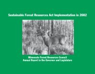 Sustainable Forest Resources Act Implementation in 2002 ...